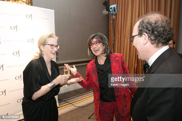 Meryl Streep speaks with Christiane Amanpour and Joel Simon Executive Director of the Committee to Protect Journalists at CPJ's annual International...
