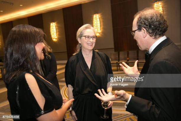 Meryl Streep speaks with Joel Simon Executive Director of the Committee to Protect Journalists at CPJ's annual International Press Freedom Awards on...