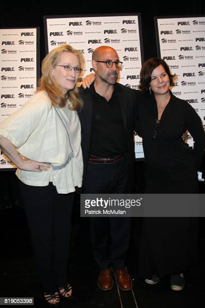 Meryl Streep Stanley Tucci and Marcia Gay Harden attend THE PUBLIC THEATRE Presents a OneNightOnly Benefit Reading of SPEAK TRUTH TO POWER Voice...