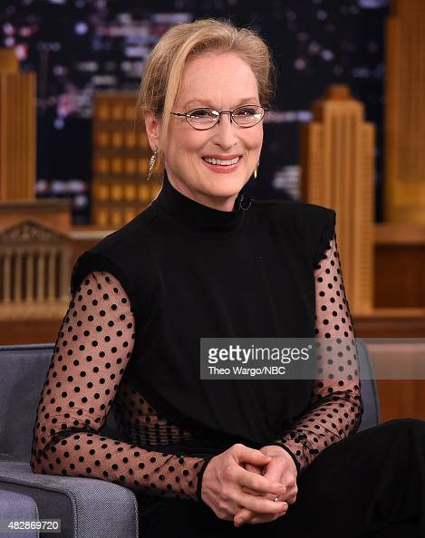 Meryl Streep Visits 'The Tonight Show Starring Jimmy Fallon' at Rockefeller Center on August 3 2015 in New York City