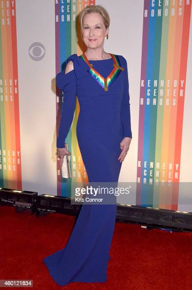 Meryl Streep walks the red carpet during the 27th Annual Kennedy Center Honors at John F Kennedy Center for the Performing Arts on December 7 2014 in...