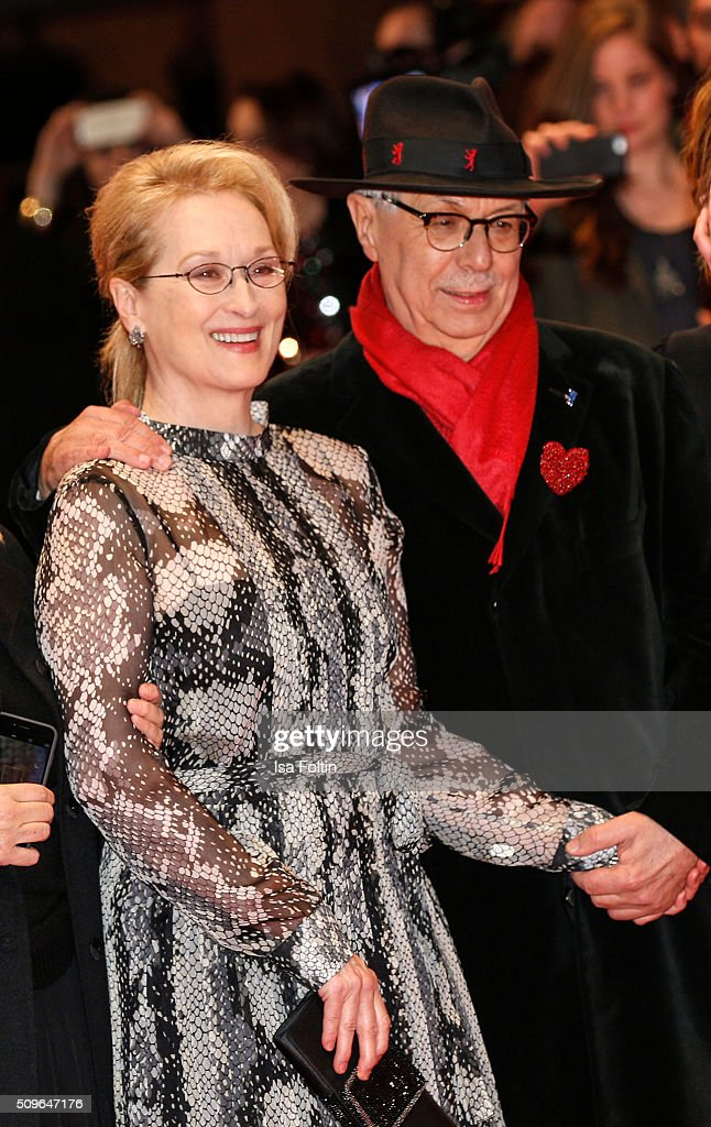 <a gi-track='captionPersonalityLinkClicked' href=/galleries/search?phrase=Meryl+Streep&family=editorial&specificpeople=171097 ng-click='$event.stopPropagation()'>Meryl Streep</a> and <a gi-track='captionPersonalityLinkClicked' href=/galleries/search?phrase=Dieter+Kosslick&family=editorial&specificpeople=213030 ng-click='$event.stopPropagation()'>Dieter Kosslick</a> attend the 'Hail, Caesar!' Premiere during the 66th Berlinale International Film Festival on February 11, 2016 in Berlin, Germany.