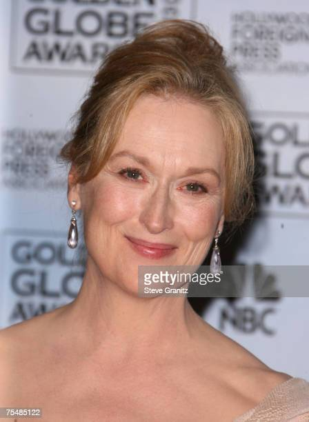 Meryl Streep winner Best Performance by an Actress in a Motion Picture Musical or Comedy for 'The Devil Wears Prada' at the Beverly Hilton in Los...