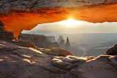 Mesa Arch sunrise landscape in Canyonlands National Park