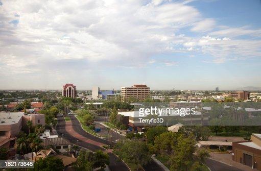 Urban Mesa Arizona Vue aérienne de gratte-ciel de la ville