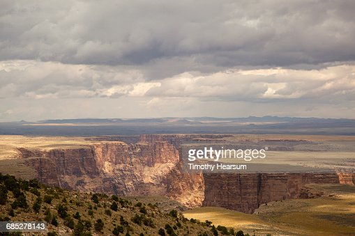 Mesas of Marble Canyon with cloudy skies : Stock Photo