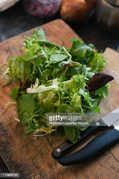 Mesclun and assorted fresh greens