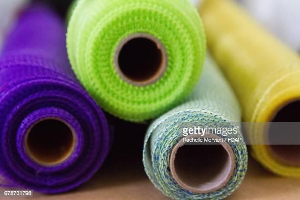 Mesh fabric rolls
