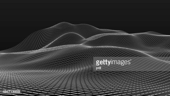 mesh wire scenery : Stock Photo