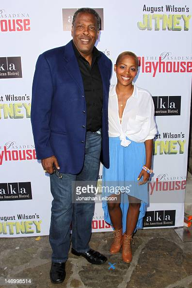 Meshach Taylor and Esme Taylor attend the Opening Night Performance Of August Wilson's 'Jitney' At The Pasadena Playhouse at Pasadena Playhouse on...