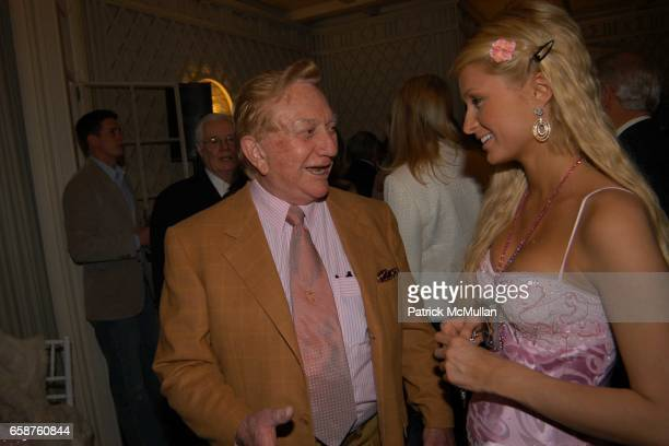 Meshulam Riklis and Paris Hilton attend Kathy and Rick Hilton's party for Donald Trump and 'The Apprentice' at the Hiltons' Home on February 28 2004...