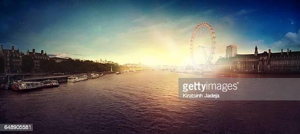 Mesmerizing View Of London At Sunrise