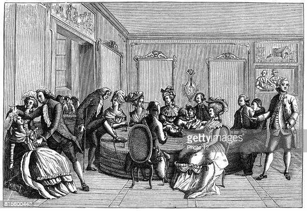 Mesmer's tub at his consulting room in parish which opened soon after his treatise 'Memoire sur la decouverte de magnetism animal' in 1779 Tub was a...
