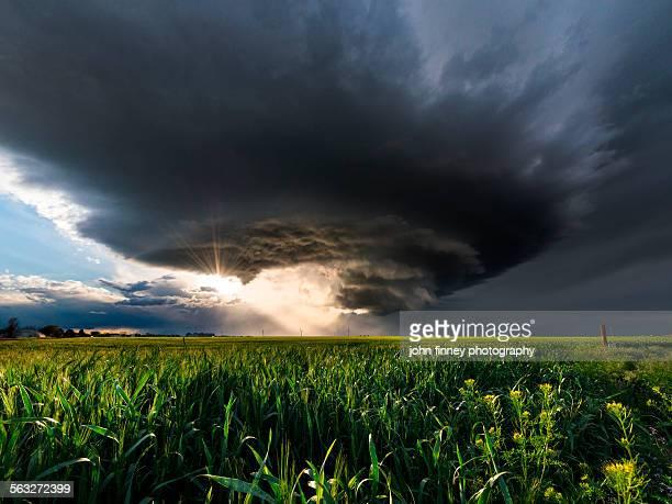 Mesocyclone storm, Arriba, Colorado