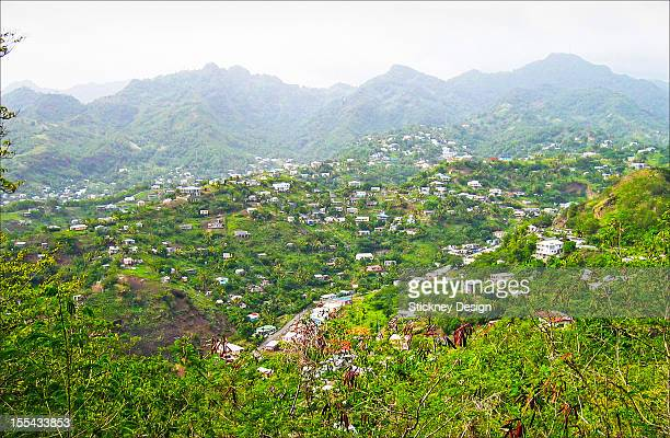 Mesopotamia valley, St. Vincent, Caribbean island green