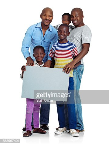 Message for modern families : Stock Photo