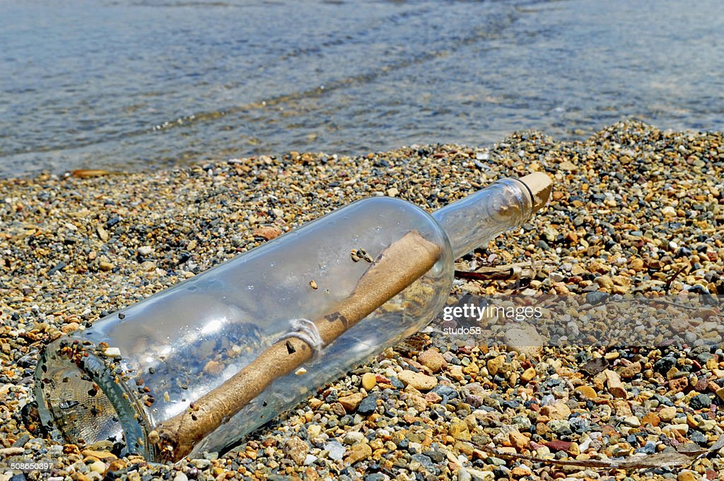 message in bottle : Stock Photo
