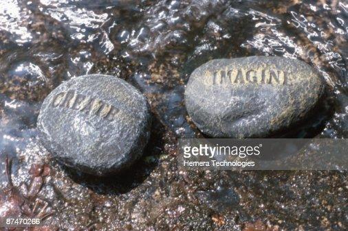 Message rocks : Stock Photo