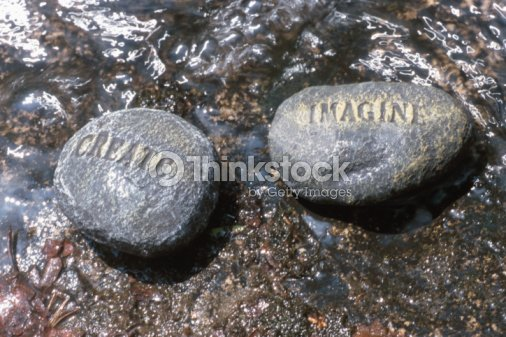 Message rocks : Stock Photo
