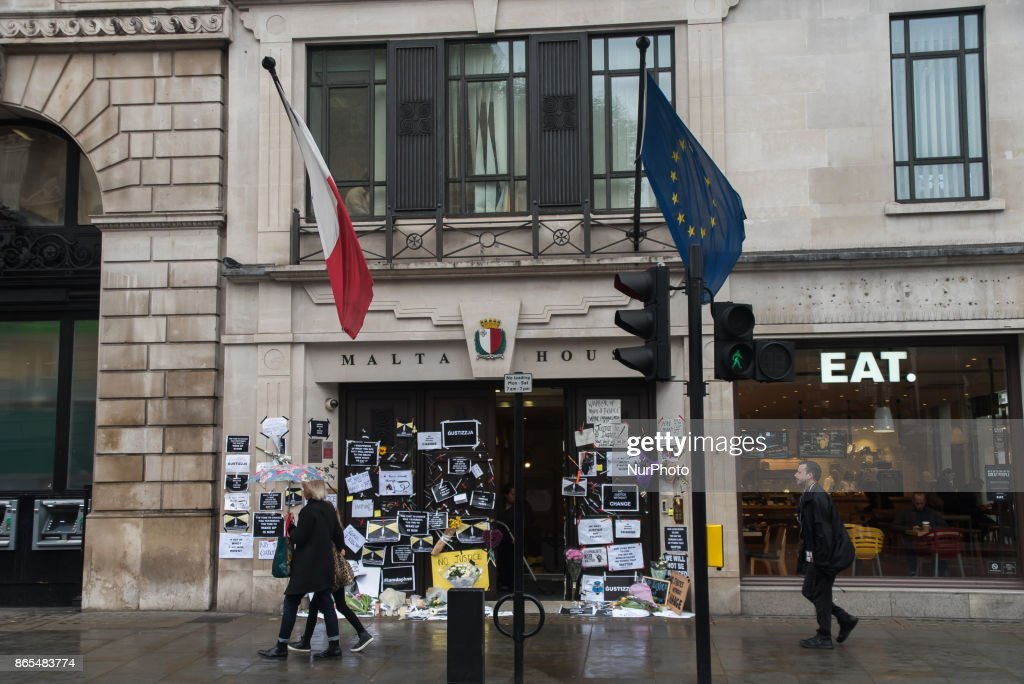 Tributes To Daphne Caruana Galizia At Malta House In London