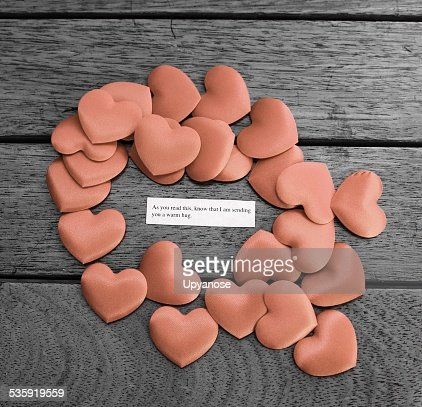 Messaging warm hugs : Stock Photo