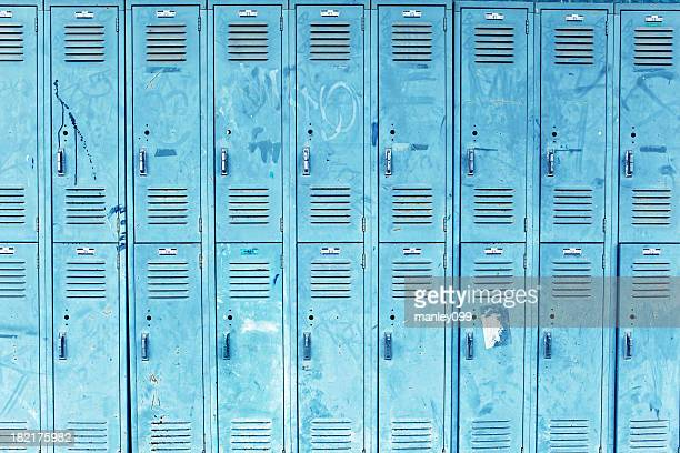 messed up blue lockers