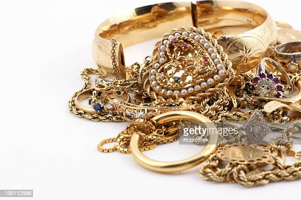 A messed up pile of gold jewelry