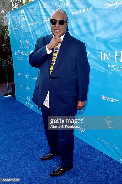 Messenger of Peace Stevie Wonder attends the special event for UN SecretaryGeneral Ban Kimoon hosted by Brett Ratner and David Raymond at Hilhaven...