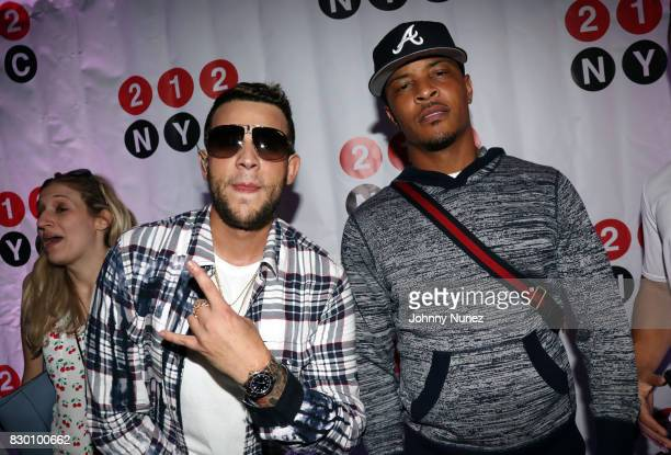 Messiah El Artista and TI attend the 9th Annual 212NYC Summer Party at Pier 16 on August 10 2017 in New York City
