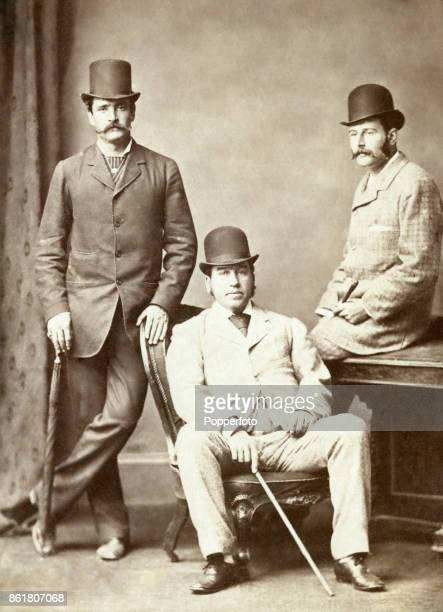 Messrs Andrew Loughnan Charles Croaker and Henry Roughton Hogg members of the Melbourne Cricket Club reception committtee which met The Lord Harris...