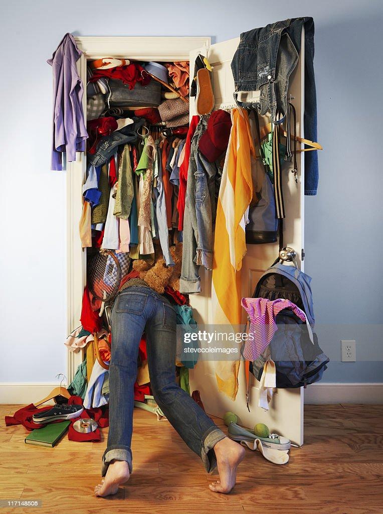 Messy Closet : Stock Photo