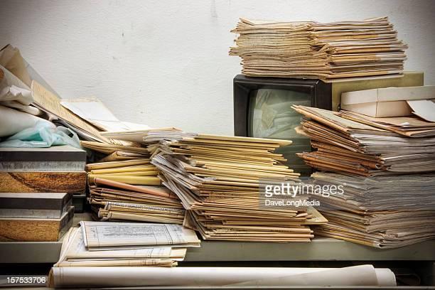 Messy Retro Desk