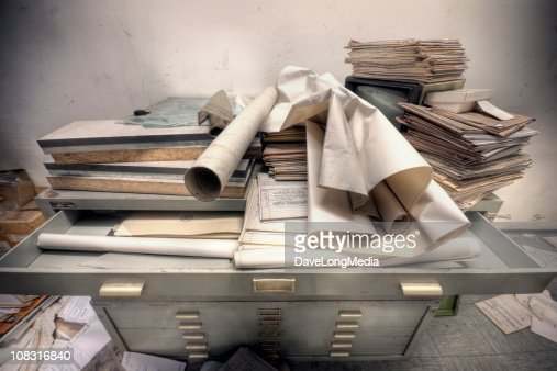 Messy Retro File Cabinet