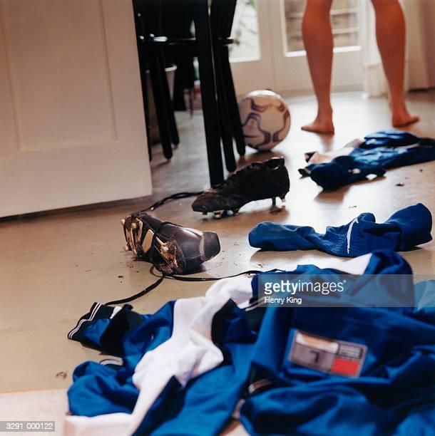 Messy Soccer Uniform on Floor
