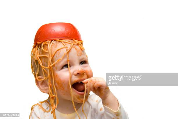 Messy Spaghetti Baby