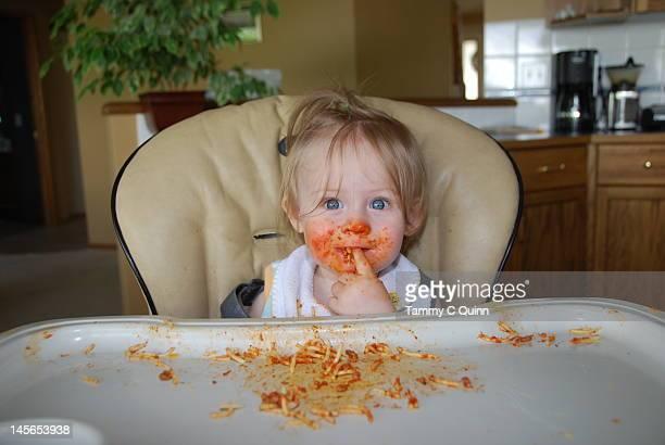 Messy spaghetti!