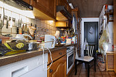 vintage furniture kitchen and a black and white chair or stool