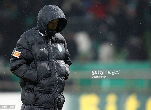 Mesut Oezil of Bremen is seen after the DFB Cup quarter final match between SV Werder Bremen and 1899 Hoffenheim at Weser Stadium on February 9 2010...