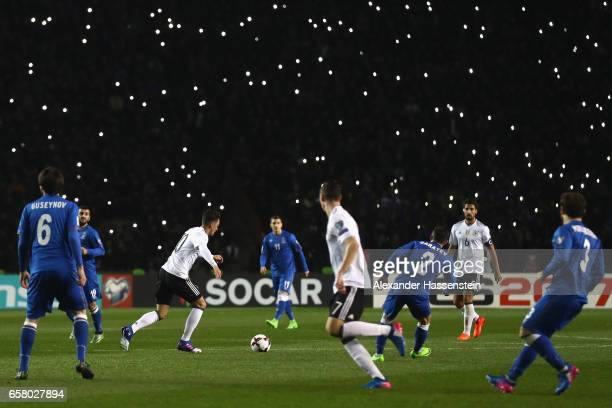 Mesut Oezil of Germany icontrolls the ball during the FIFA 2018 World Cup Qualifing Group C between Azerbaijan and Germany at Tofiq Bahramov Stadium...
