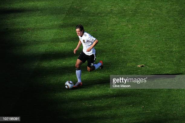 Mesut Oezil of Germany in action during the 2010 FIFA World Cup South Africa Group D match between Germany and Serbia at Nelson Mandela Bay Stadium...
