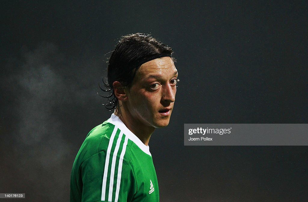 Mesut Oezil of Germany is seen during the International friendly match between Germany and France at Weser Stadium on February 29, 2012 in Bremen, Germany.