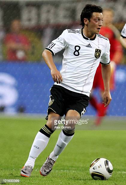 Mesut Oezil of Germany runs with the ball during the international friendly match between Germany and BosniaHerzegovina at Commerzbank Arena on June...