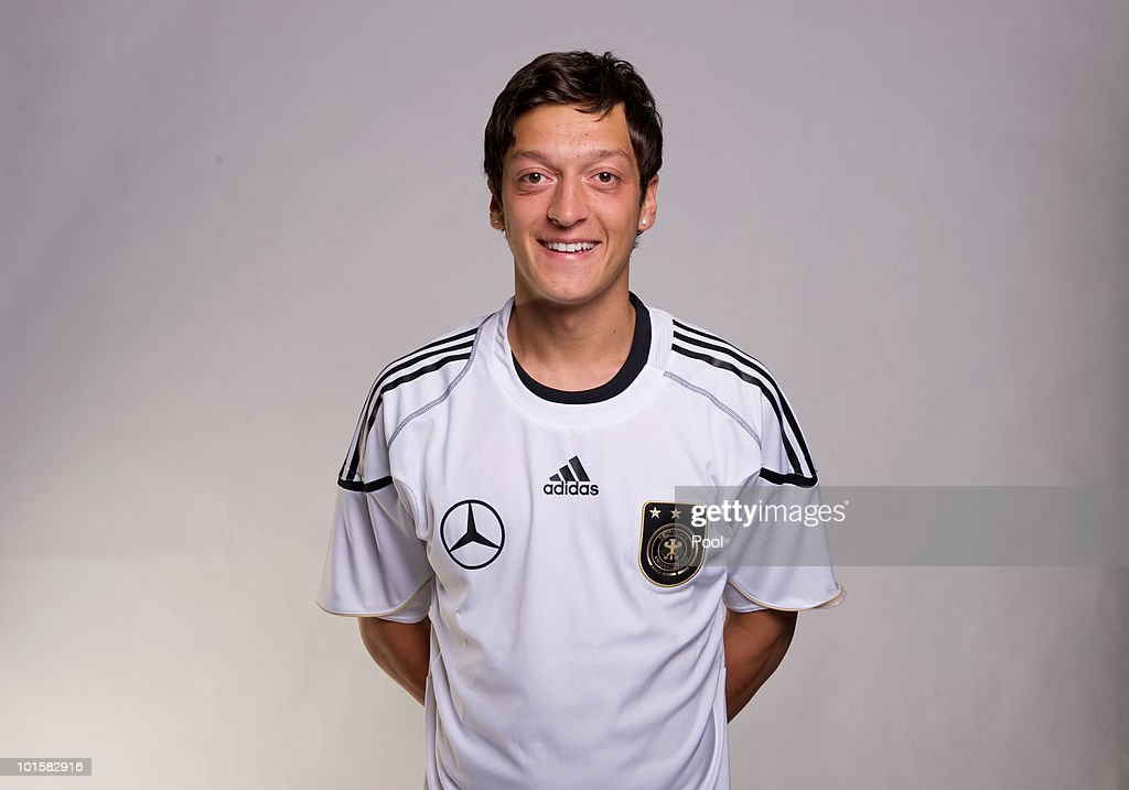 Mesut Oezil poses during the official team photocall of the German FIFA 2010 World Cup squad on June 3, 2010 in Frankfurt am Main, Germany.