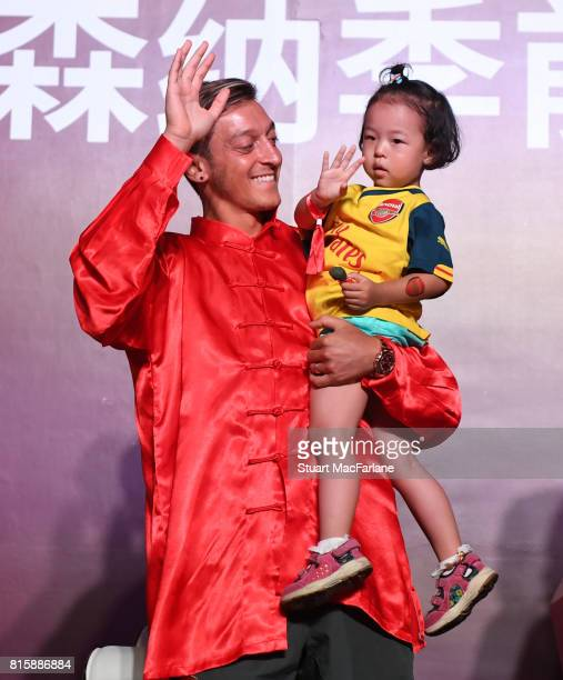 Mesut Ozil attends an Arsenal Fan Party at the Manderain Oriental Hotel on July 17 2017 in Shanghai