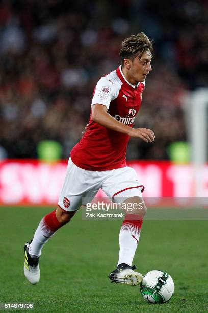 Mesut Ozil of Arsenal controls the ball during the match between the Western Sydney Wanderers and Arsenal FC at ANZ Stadium on July 15 2017 in Sydney...