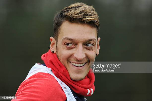 Mesut Ozil of Arsenal during a training session at London Colney on October 23 2015 in St Albans England
