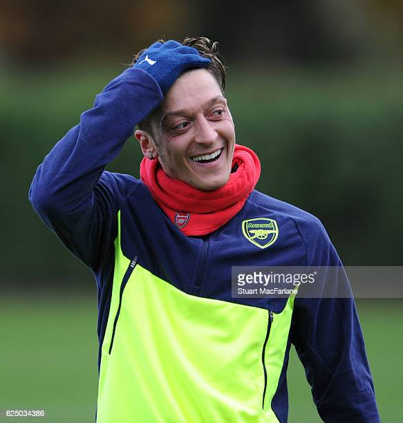 Mesut Ozil of Arsenal during a training session at London Colney on November 22 2016 in St Albans England