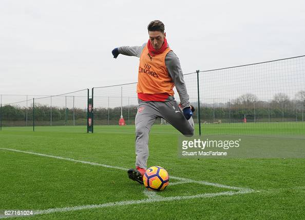 Mesut Ozil of Arsenal during a training session at London Colney on December 2 2016 in St Albans England