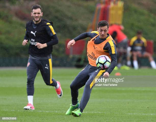 Mesut Ozil of Arsenal during a training session at London Colney on May 20 2017 in St Albans England