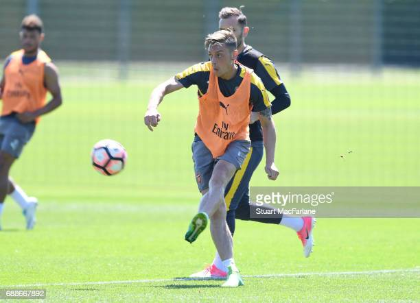 Mesut Ozil of Arsenal during a training session at London Colney on May 26 2017 in St Albans England